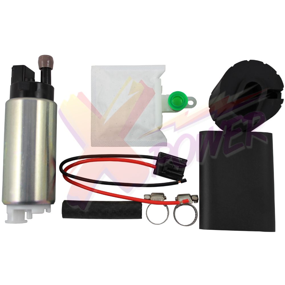 Xpower-255LPH High Flow Pressure Performance Electric Fuel Pump + Universal Install Kit GSS341