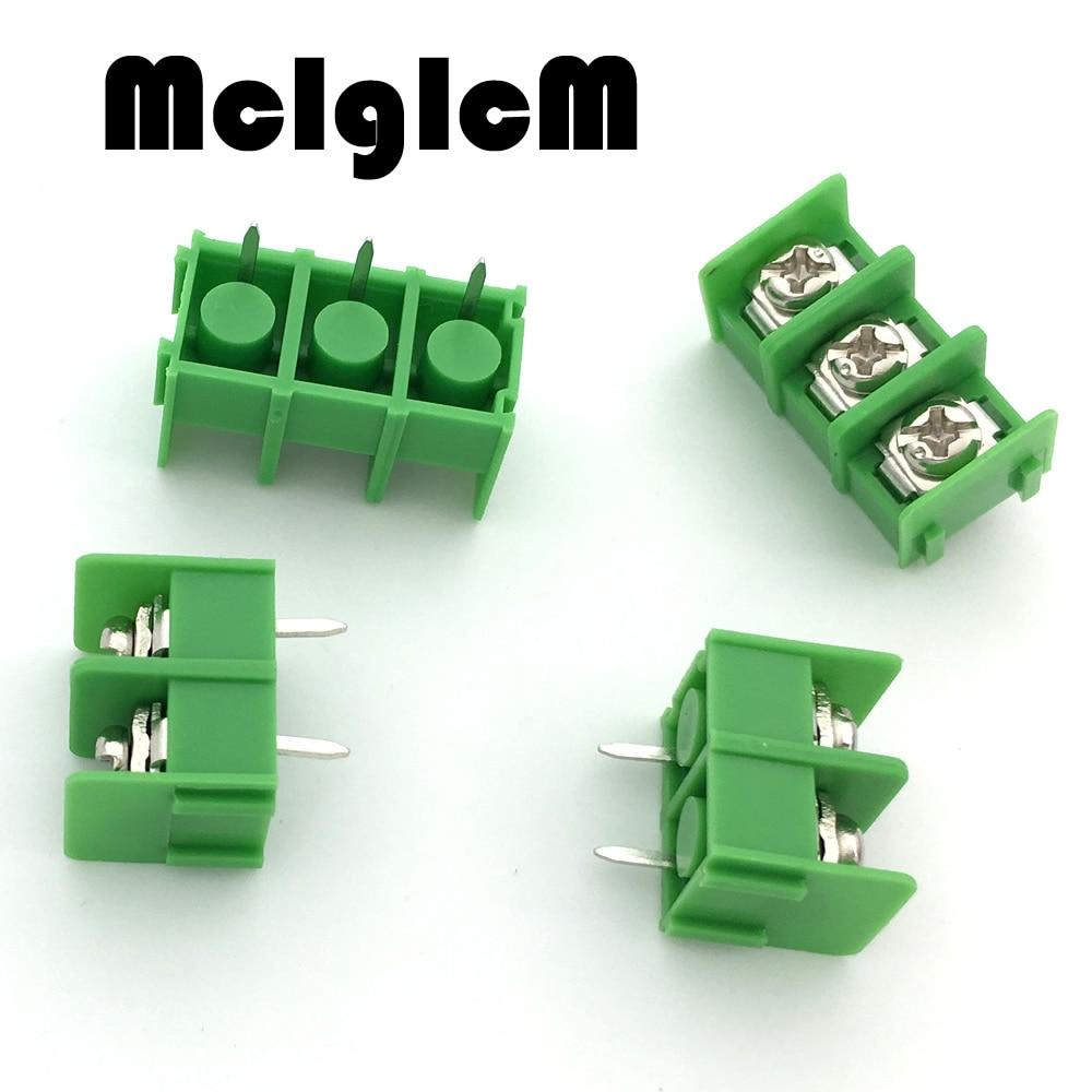 10pcs KF7.62-2P KF7.62-3P 7.62mm pitch connector pcb screw terminal block connector 2 pin 3 pin 300V 20A Free Shipping