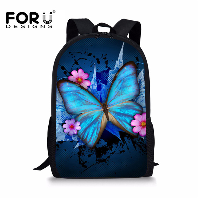 5536c4be4038 FORUDESIGNS Butterfly Printing Backpacks for Teenager Girls