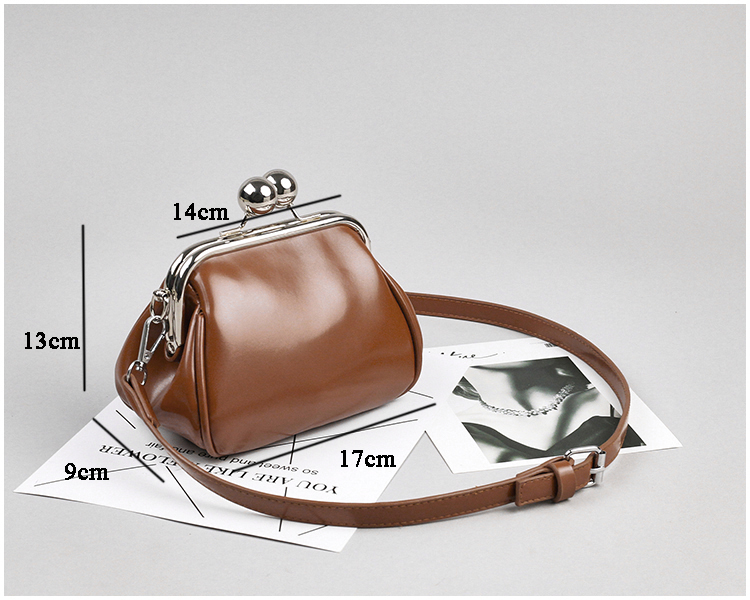 bags women leather shoulder crossbody bag women's handbag kiss lock bag (14)