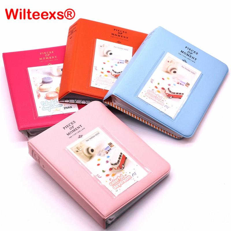 цена на WILTEEXS 64 Pockets Fujifilm Instax Mini Films Instax Mini 8 7s 70 25 50s 90 Name Card Pieces Of Moment Photo Book Album