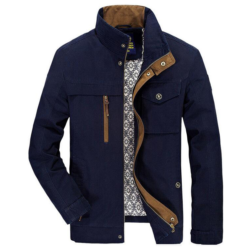 High quality men s jacket 2017 spring autumn bomber jacket new brand 100 cotton business Casual