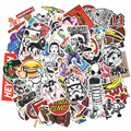 Newest 100pcs Funny Car Stickers Bomb Laptop Snowboard Luggage Decor Motorcycle Bike Car Stickers and Decals Doodle Moto Sticker
