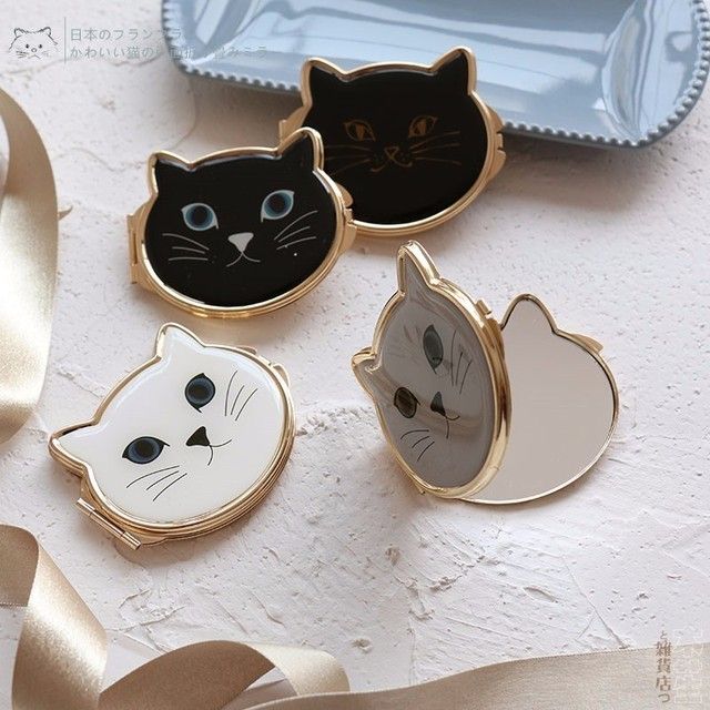 Lovely Cat Makeup Compact Mirror Pocket Cosmetic Mirror Hand Mirror Dropshipping Wholesale 4