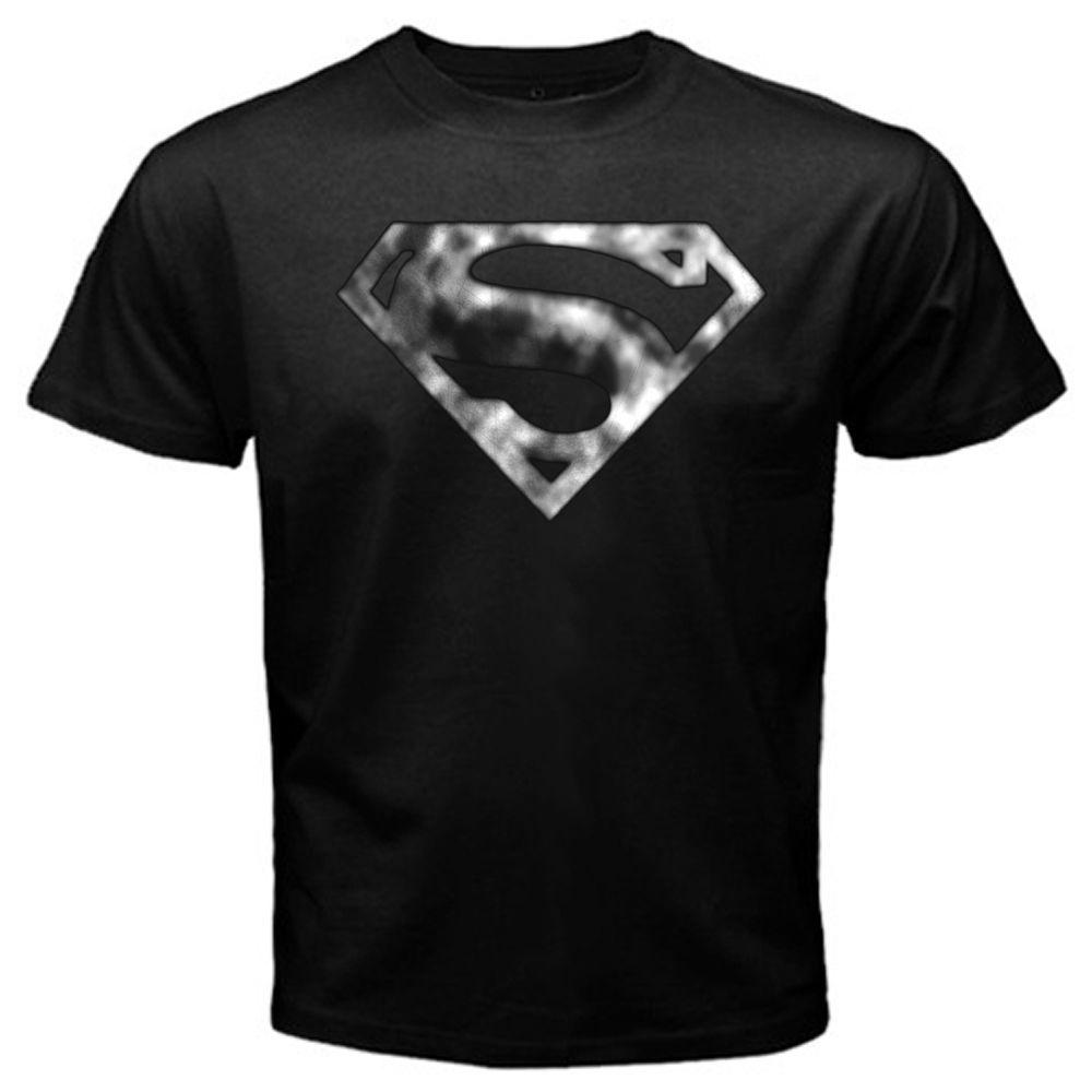 T shirt black and white designs - Men T Shirt Blur Shield Superman Logo Krypton Smallville Clark Kent Black T Shirt Tee