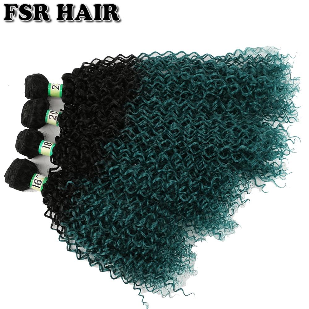 Afro kinky cabelo encaracolado preto a verde