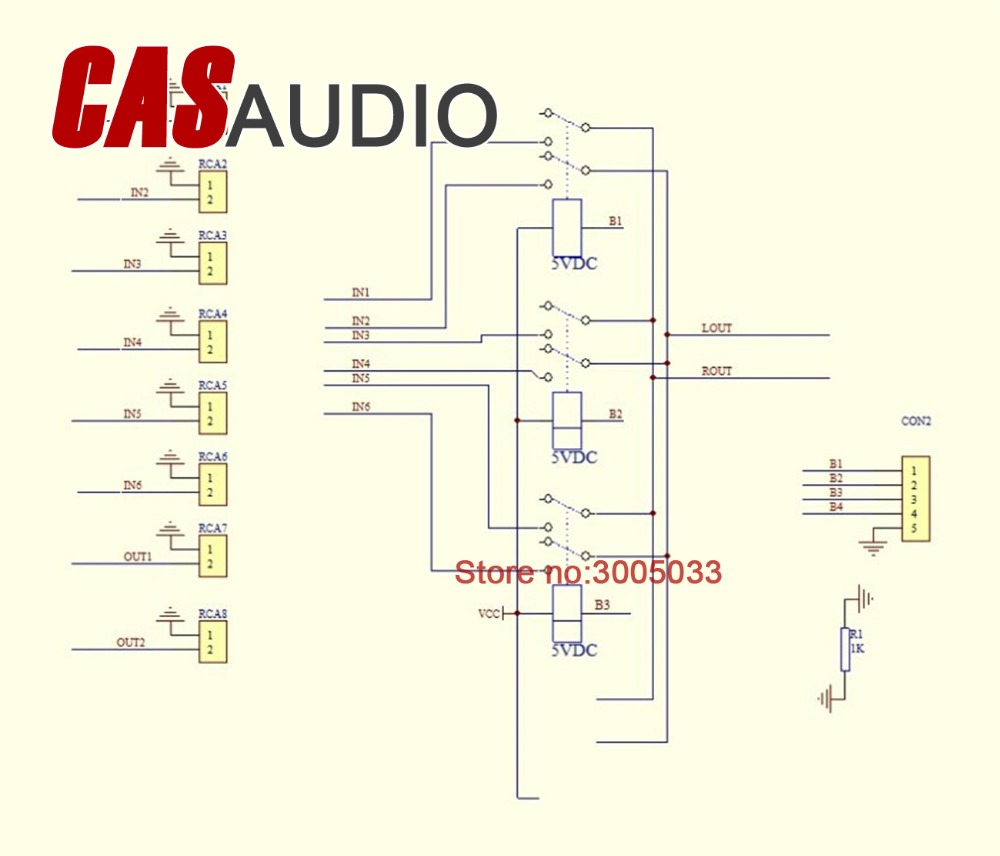 small resolution of 4 ways input source selector for audio preamp power amplifier diy kit 4 in 1 out in amplifier from consumer electronics on aliexpress com alibaba group