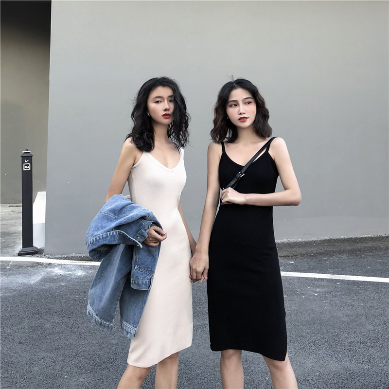 Knitting Cotton Streetwear Sleeveless Long Dress