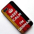 Mantenha a calma eu sou alemão, Alemanha bandeira da tampa do caso, Caso para Apple Iphone 5 5S / 4 4S / 5c / 6 / 6 plus / 6 S
