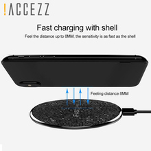 !ACCEZZ 10W Fast QI Wireless Charging Pad For Samsung Galaxy S6 S8 S7 Note 8 iPhone X Plus Ultra-thin Phone Charger