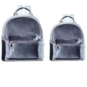 Fashion Woman Designer Backpack Soft Velvet Backpack Women Travel Backpacks Girls SchoolBag Book Rucksack Teenage Mochila Female - DISCOUNT ITEM  18% OFF All Category