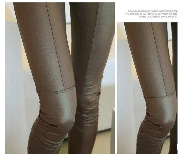 Bohocotol New 2019 divat Faux bőr nadrág női Lady leggins nadrág - Női ruházat - Fénykép 4