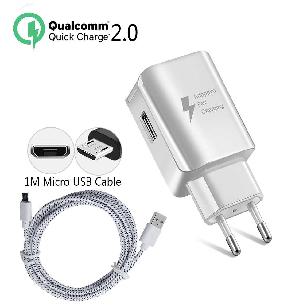 USB Charger 5 V/2A 9 V/1.67A Wall Adapter EU US Plug สำหรับ Samsung Huawei LG XIAOMI