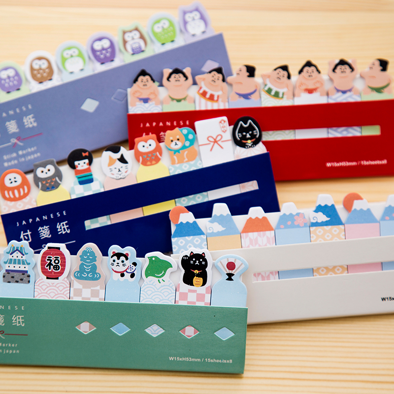 Kawaii Japan /Cake/CAT/DOG Post-It Bookmark Marker Memo pad Flags Index Tab sticky notes Label Paper Stickers Notepad stationery 1 pcs 7 10 colors pet 20 sheets per color index tabs flags sticky note for page marker stickers office accessory stationery