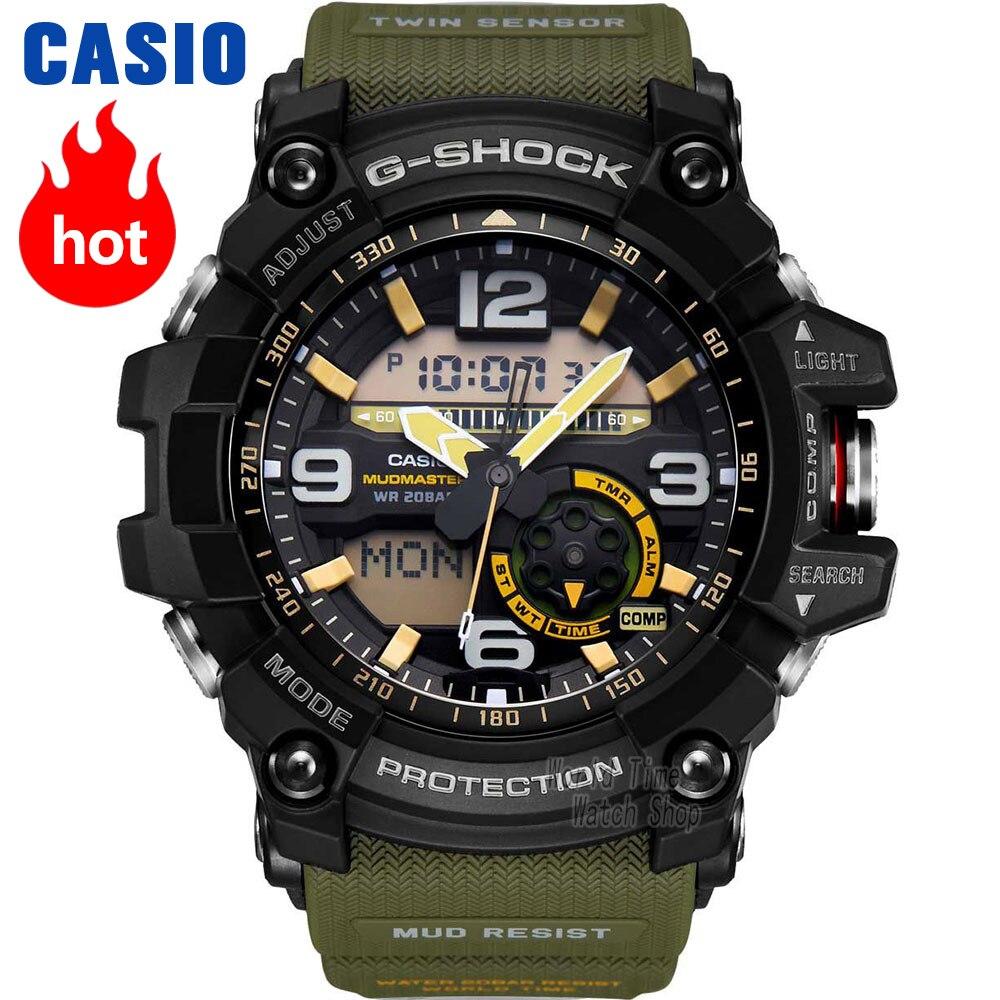 Orologio Casio G-SHOCK del quarzo degli uomini di sport della vigilanza fango re triple di induzione di energia solare Radio onda g shock Orologio GG-1000