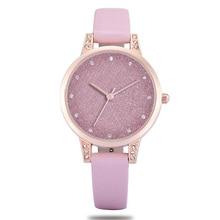 Часы для женщин Новинка 2018 года Модные Кожаные классические женские часы Женские кварцевые наручные часы