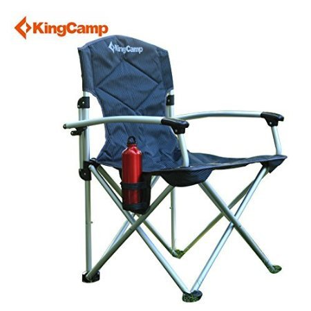 KingCamp Nineteen Inches Seat Height, Deluxe Arms Aluminum Folding  Lightweight Camping Chair With Carry Bag