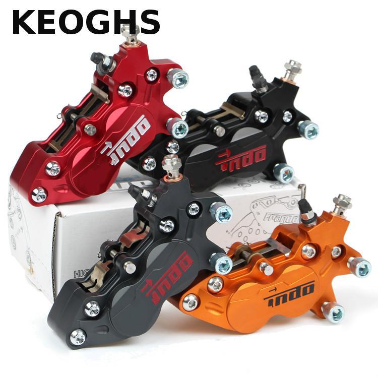 Keoghs Universal Motorcycle Parts Modification 4 Piston Brake Caliper 40mm Cnc Rear Brake 10mm Hole For Bws Rsz Hf6/f101 Yamaha keoghs motorcycle 260mm brake disc rotor with washer 70mm hole to hole for yamaha scooter bws cygnus modify