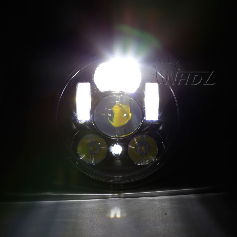New 5.75 5-34 Inch Projector Round LED Headlight DRL for Harley Davidson Motorcycles (18)