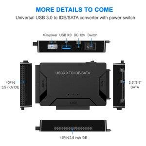 "Image 3 - USB 3.0 כדי SATA IDE ATA נתונים מתאם 3 ב 1 עבור מחשב נייד 2.5 ""3.5"" HDD קשה דיסק נהג עם כוח"