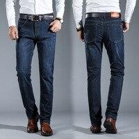 2018 Brand jeans men Fashion warm elasticity jeans high quality male pants trousers jeans for men Plus size 42