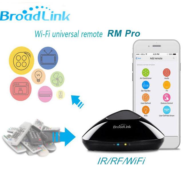 Más reciente broadlink rm2 rm pro, controlador inteligente universal ir + rf + wifi inteligente interruptor de control remoto a través de ios android, smart home