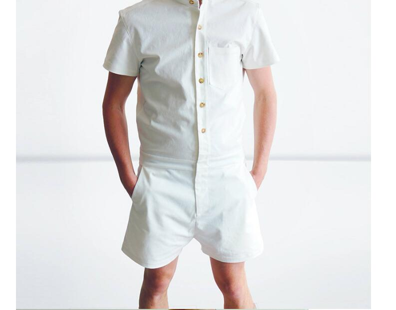 New  2020 New Fashion Man's Sets Casual Short Sleeve One Piece Jumpsuits Summer Shirt Rompers Men NEW