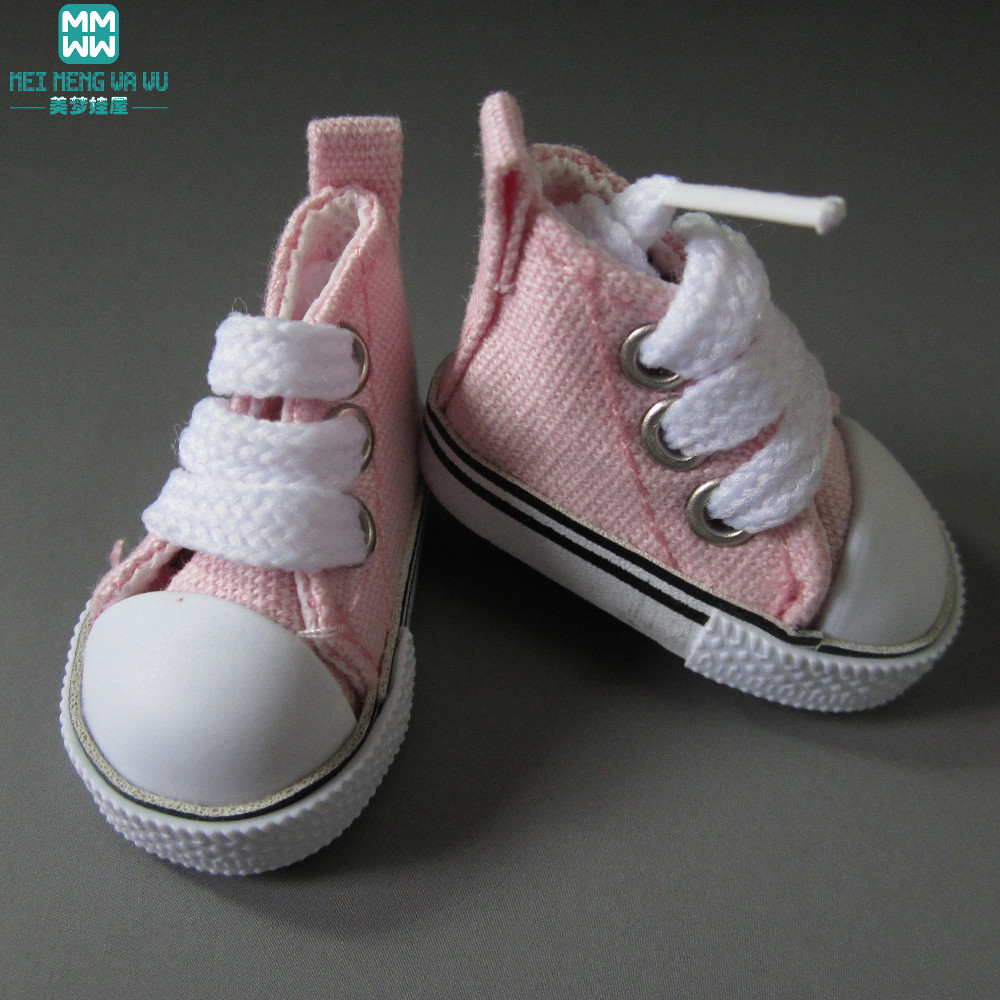 5cm mini doll neakers Shoes for 1/6 bjd doll Denim Canvas toy Shoes
