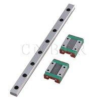 CNBTR 20cm Length Silver MGN12 Bearing Steel Linear Sliding Guide Linear Bearing Slide Rail & 2 Block Set