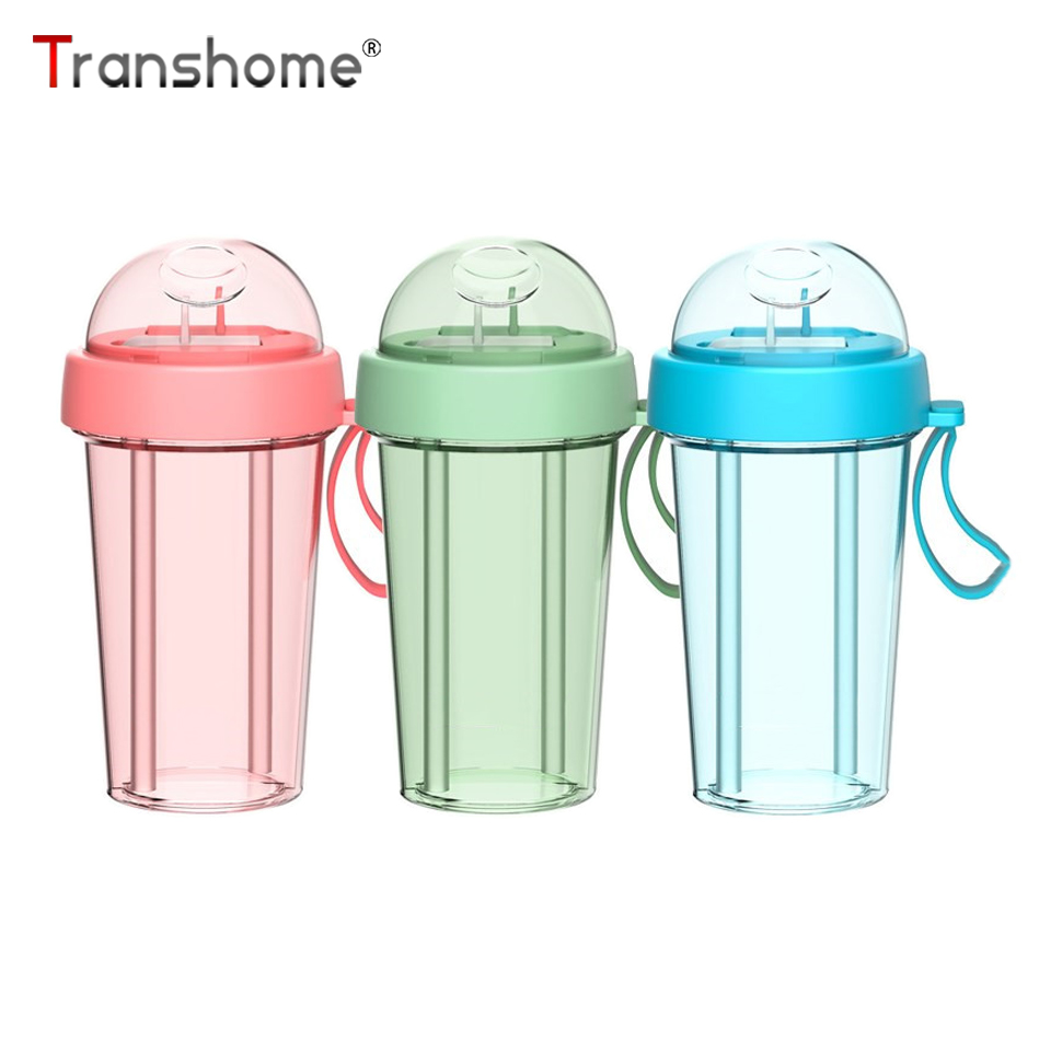 Transhome Water-Bottle Drinkware Plastic Travel Bpa-Free Outdoor Sports Kids with