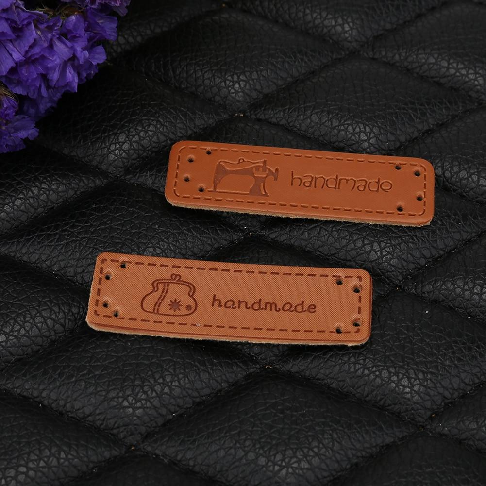 12 шт. ручной работы этикетки для одежды одежда ПУ; кожа; с маркировкой ручной работы теги джинсы сумки обувь швейная фурнитура