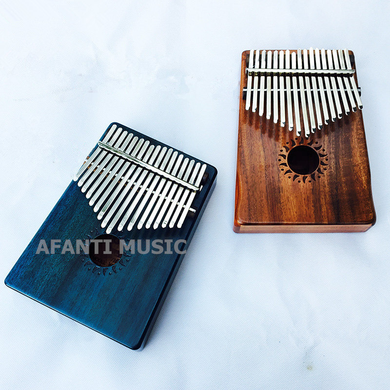 Meticulous Dyeing Processes thp-128 Afanti Music 17 Keys Kalimba Mbira Thumb Piano Acacia Wood Traditional African Music Instruments 17 Tone