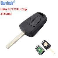 OkeyTechใหม่2ปุ่มรถกุญแจรีโมทFob 433