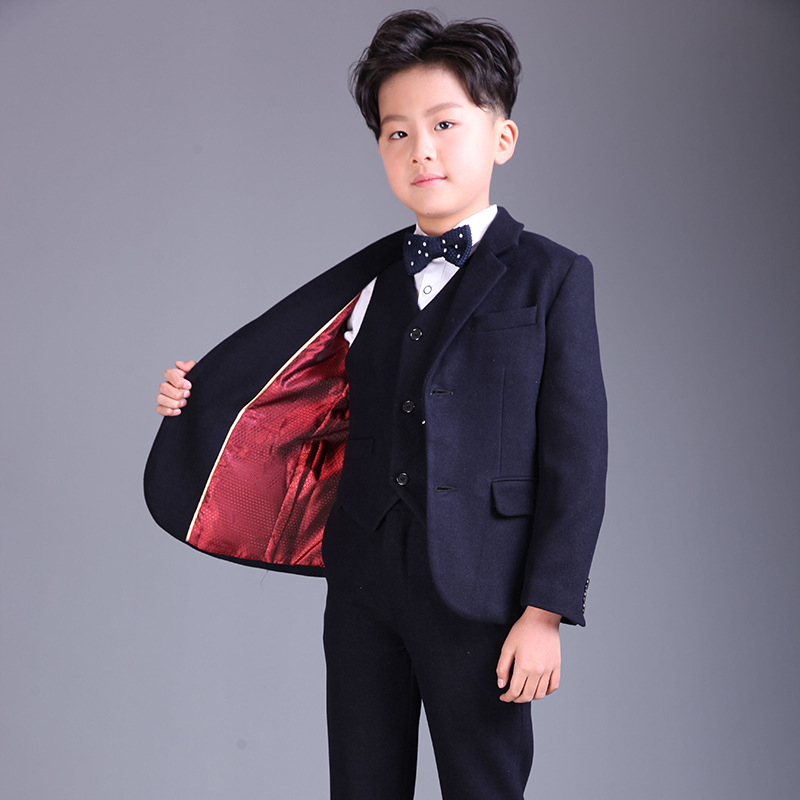 2018 New Boy suits flower boys blazers clothing suit children uniform teenager clothes outfits kids piano party costume цена 2017