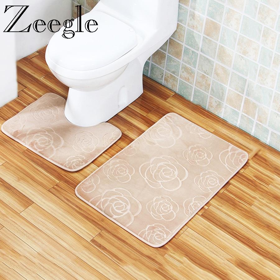 Zeegle Bathroom Carpet Embossing Bath Mat Absorbent