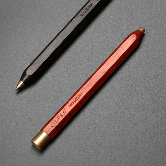 1pc Luxury Wood Pen with Hexagon Design Retractable Ballpoint Pens Creative Gift Stationery Office Writing School