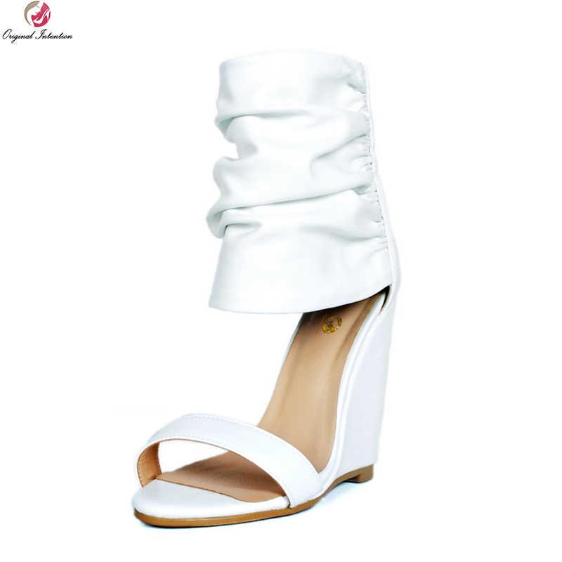 White Sandals Ladies Shoes Woman Plus