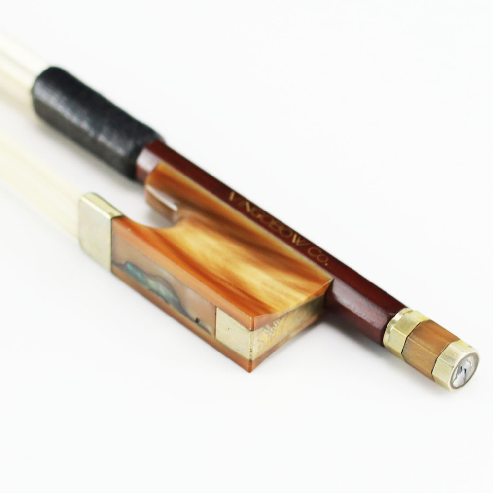 340V 4/4 Full Size Pernambuco VIOLIN BOW Ox Horn Frog Nickel Silver Fitted Mogolia Horsehair Straight Violin Parts Accessories