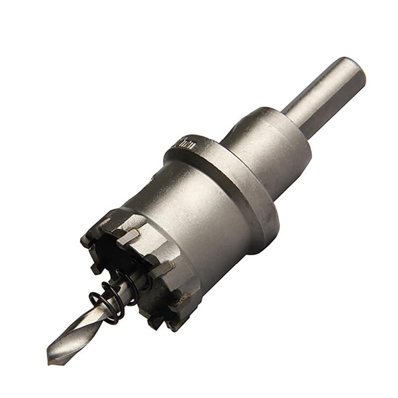 1ピース15-75ミリメートルコアドリルビット穴鋸金属掘削Brocasハード合金ストレートシャンクドリルビット用金属切削動力工具