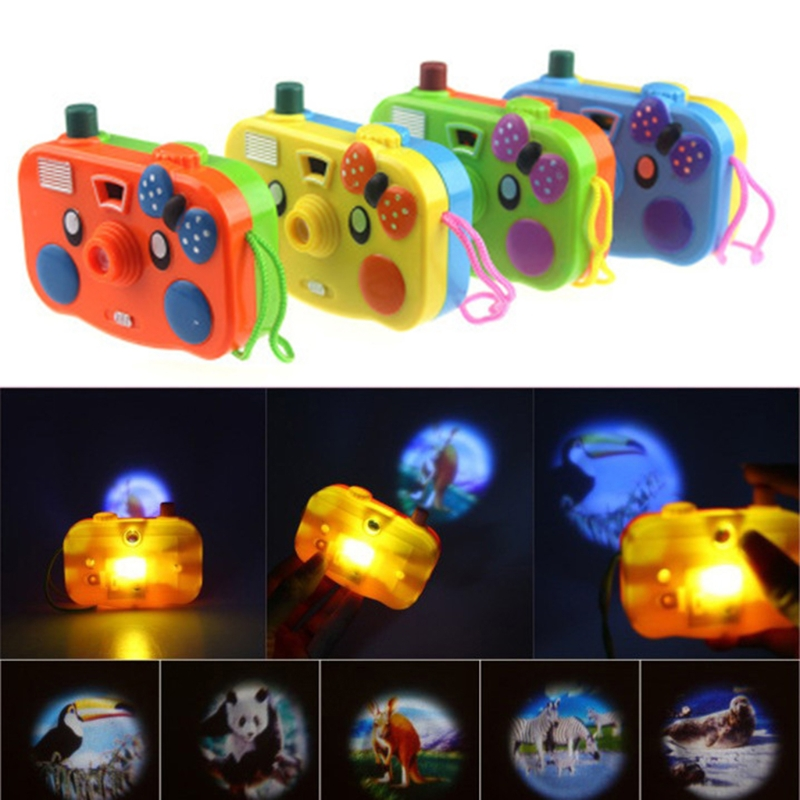 New Animal Projection Mini Camera Toy With Light Cartoon LED Flashing Educational Toy Kid Baby Children Birthday Gifts