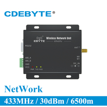 E70 DTU 433NW30 ستار شبكة RS232 RS485 طويلة المدى 433 MHz 1W IoT uhf وحدة الإرسال والاستقبال اللاسلكية rf 433 MHz البيانات الارسال