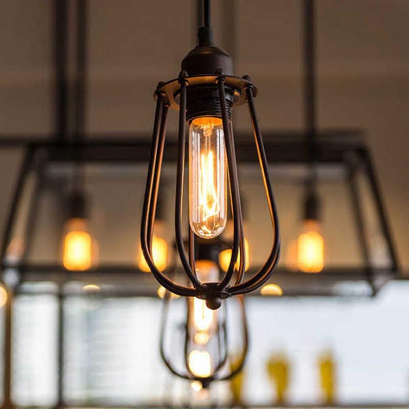 Современный Лофт ретро подвесные светильники лампа под старину промышленного назначения абажур Железный Абажур-куб абажур столовая домашний декор освещение в помещении