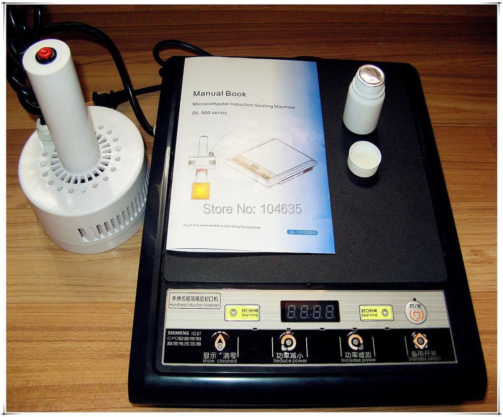 220V Hand-Held electromagnetic induction sealing machine portable Induction Sealer(seal size:20-80mm) portable magnetic induction bottle sealer seal size 15 100mm 0706028l