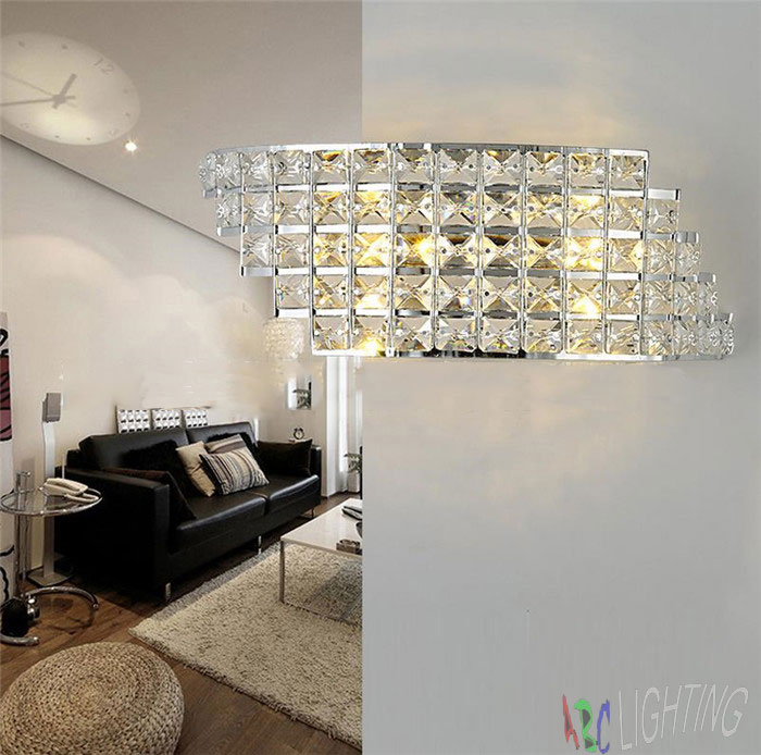 2017 New LED crystal wall lights  bedroom bedside wall sconces arandelas abajur para quarto aisle corridor porch led lamps купить
