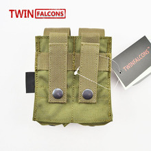 Cordura 1000D Tactical Molle Pouch Dual Double Pistol Mag Magazine Close Holster Outdoor Airsoft Combat Military 9MM TW-M006