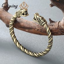 QIMING Rvikings Wolf Bracelets For Women Male Accessories Viking Bracelet Men Wristband Cuff Bracelets Bangles Teen Wolf(Hong Kong,China)