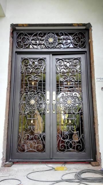 Custom 1600mm X 2600mmwrought Iron Doors Front Doors Iron Entry Door