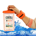 Hot Waterproof phone Bag+Floating Wrist Band Colorful Swimming Waterproof pouch for iphone for Sumsung Galax s6 for meizu z30
