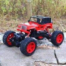 RC Car 1:18 4DW 2.4GHz Metal Rock Crawlers Rally Climbing Car Double Motors Bigfoot Car Remote Control Model Toys for Boys