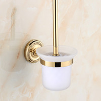 Antique Golden Brass Toilet cleaning brush/toilet brush Wall Mount Polished Chrome Bathroom bathroom accessories w78
